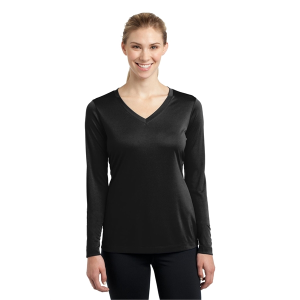 Sport-Tek® Long Sleeve PosiCharge Competitor V-Neck Tee - Ladies
